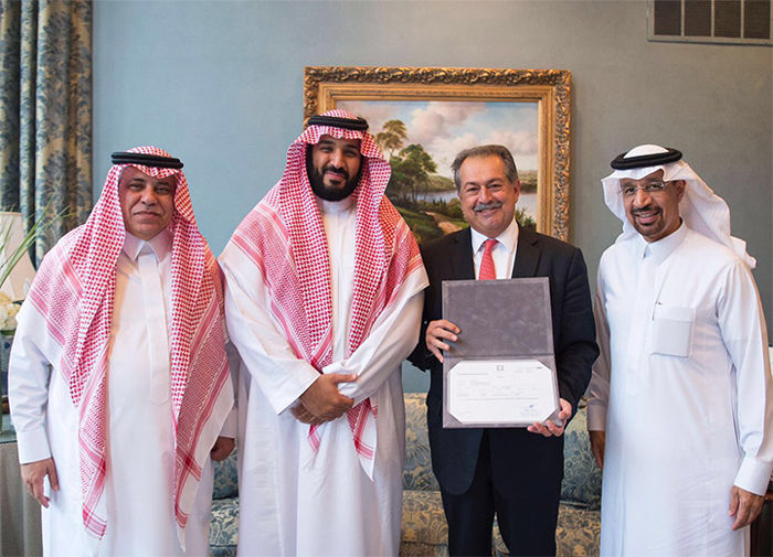 The Dow Chemical Co. recently became the first company to receive a trading license in Saudi Arabia