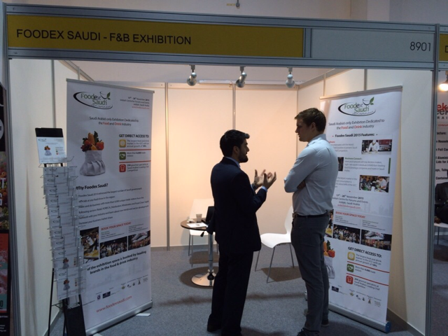 Foodex Saudi stand  at the Airport Show & Travel Catering Expo in Dubai, May 2015